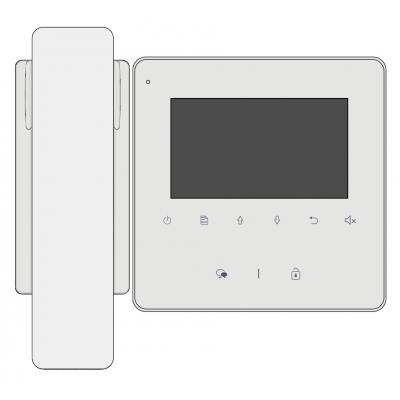"""VT-D-43-SL v2 vnitřní 4,3"""" LCD jednotka se sluchátkem"""