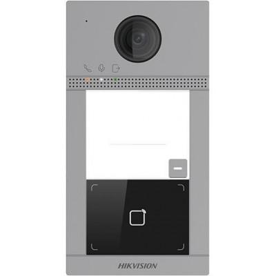 DS-KV8113-WME1/Flush dveřní IP stanice, 1 tlačítko, 2 Mpx, LAN+WiFi, RFID, 2.gen., zápustná instalace