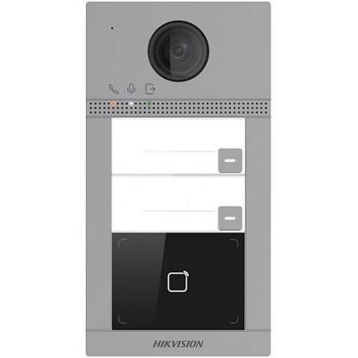 DS-KV8213-WME1/Flush dveřní IP stanice, 2 tlačítka, 2 Mpx, LAN+WiFi, RFID, 2.gen., zápustná instalace