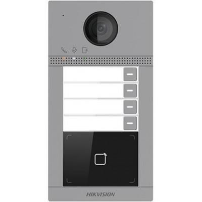 DS-KV8413-WME1/Flush dveřní IP stanice, 4 tlačítka, 2 Mpx, LAN+WiFi, RFID, 2.gen., zápustná instalace