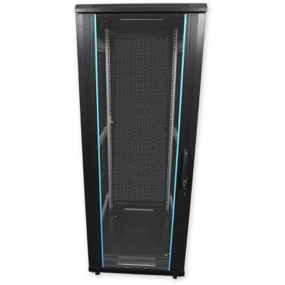 PSP.6842 stojanový, 42U, 600 x 800, sklo/plech