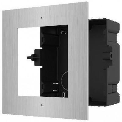 DS-KD-ACF1/S zápustná instalační krabička s rámečkem pro 1 modul, nerez, 2.generace