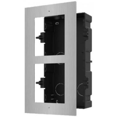 DS-KD-ACF2/S zápustná instalační krabička s rámečkem pro 2 moduly, nerez, 2.gen.