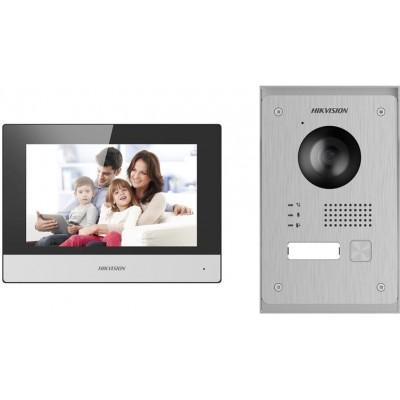 DS-KIS703-P sada videotelefonu, 2-vodičový systém, černý VDT