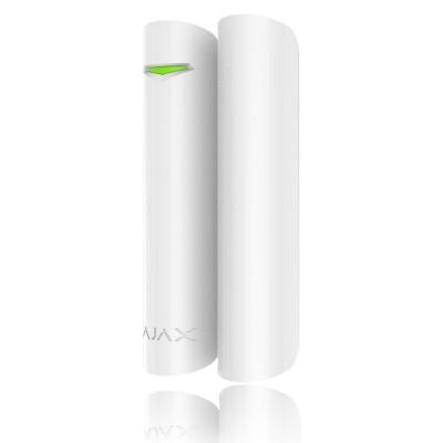 SM-35 bílý, povrchový magnetický kontakt se svorkovnicí a krytem, 2 vodiče bez vývodu, bílá barva