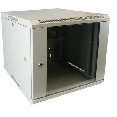 WM.6615.703 nástěnný, složený, 15U, 600 x 600, sklo, šedá