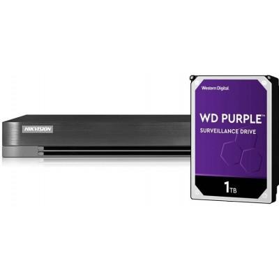 DS-7204HUHI-K1(S) + HDD 1TB (WD+) 4CH, ALL hybrid, 8 Mpx, 1xHDD, H.265Pro+, Alarm, 2K
