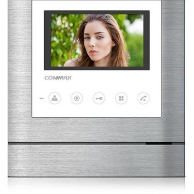 """CDV-43MD bílý - verze 17-30Vdc videotelefon 4,3"""", CVBS, handsfree, 2 vst."""