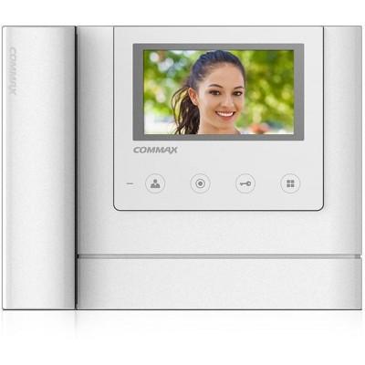 "CDV-43MH bílý - verze 230Vac videotelefon 4,3"", CVBS, se sluch., 2 vst."
