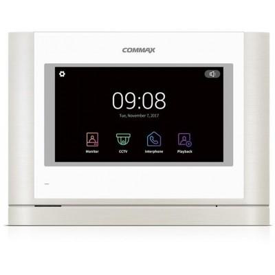 """CDV-704MAD bílý - verze 17-30Vdc videotelefon, 7"""", HD ready, dotyk., paměť"""