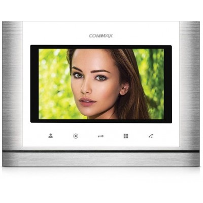 """CDV-70MD bílý - verze 17-30Vdc videotelefon 7"""", CVBS, handsfree, 2 vst."""