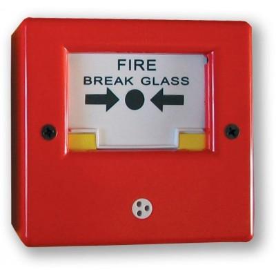 CP-01 - červená tísňový hlásič s mechanickou aretací