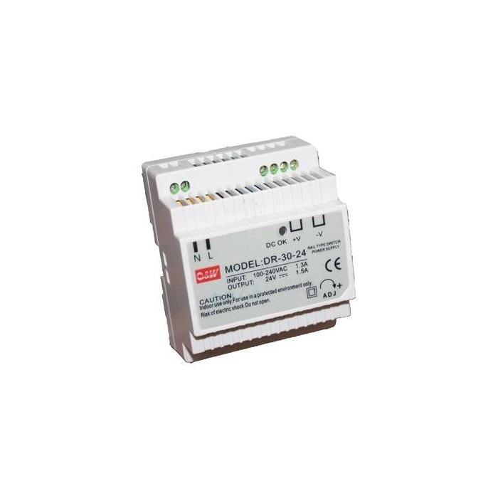 DR-30-24 zdroj na DIN, 24 Vdc, 1.5A, 36W