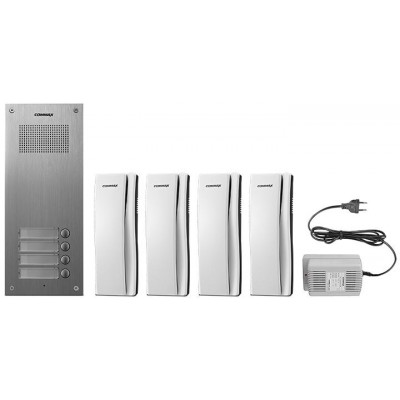 DR-4UM/DP-SS/RF-1A sada dom. telefonů pro 4 uživ., systém 4+n