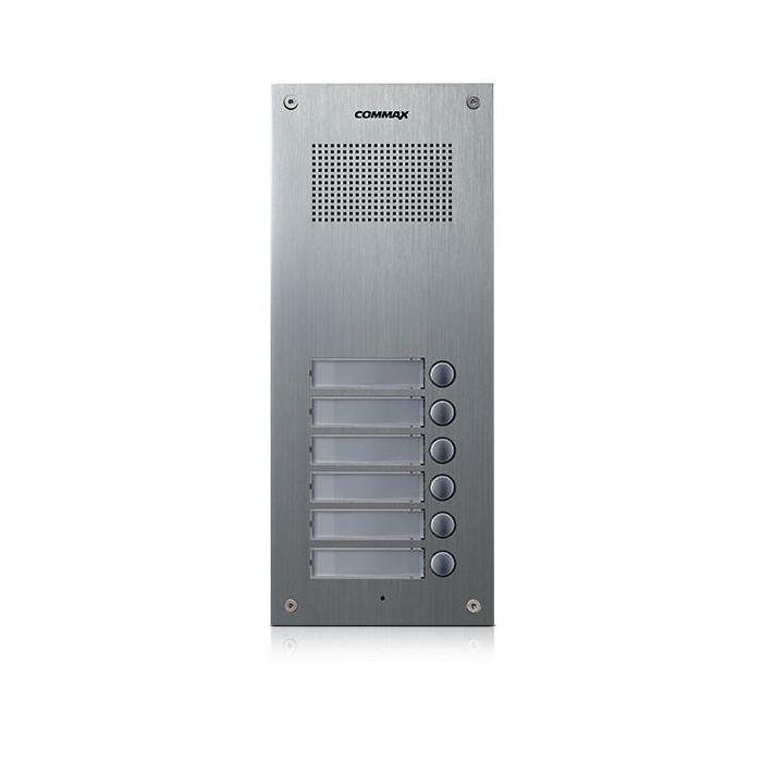 DR-6UM dveřní stanice, audio + 6 tlačítek, 4+n
