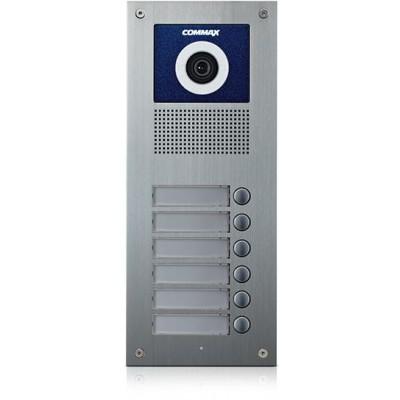 DRC-6UC dveřní stanice s kamerou, 6 tlač., CVBS