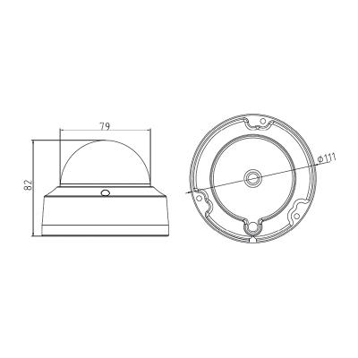 DS-2CD2125FWD-I - (4mm) 2MPix, IP dome kamera, 4mm, WDR, EXIR 30m, H265+