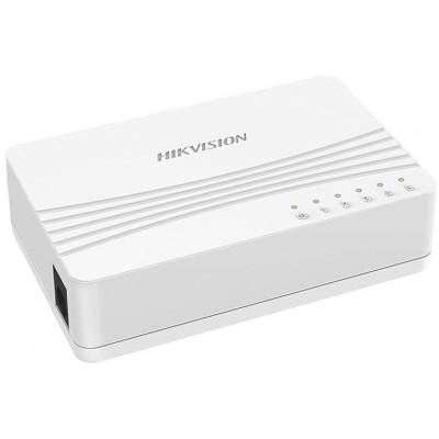 DS-3E0105D-E switch 5 porty 10/100Mbps, bez PoE, plastový