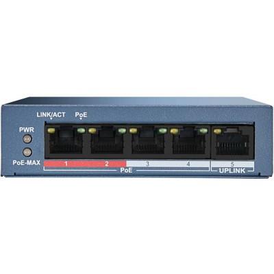 DS-3E0105P-E/M(B) 5/4 PoE switch, 4x PoE, 1x uplink 10/100Mbps