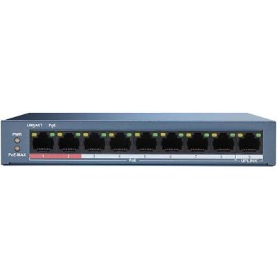 DS-3E0109P-E/M(B) 9/8 PoE switch, 1x uplink 10/100Mbps