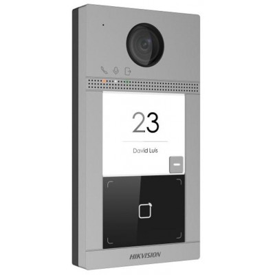 DS-KV8113-WME1(B) dveřní IP stanice, 1 tlač., 2 Mpx, LAN+WiFi, RFID, 2.generace