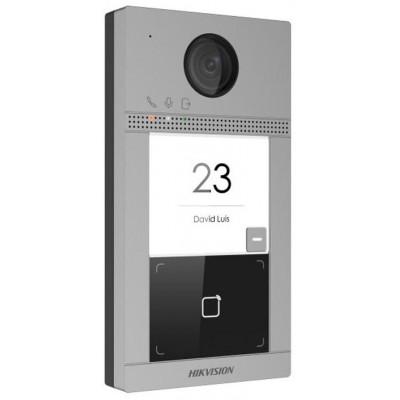 DS-KV8113-WME1(B)/Flush dveřní IP stanice, 1 tlačítko, 2 Mpx, LAN+WiFi, RFID, 2.gen., zápustná