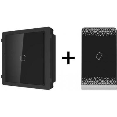 "CDV-704MA bílý/DRC-40KHD, sada 7"" handsfree AHD videotelefonu a kovové dveřní stanice, Commax"